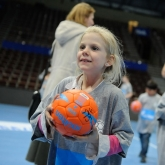Kids day in Veszprem Arena with players